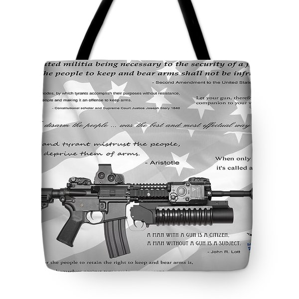 The Right To Bear Arms Tote Bag by Daniel Hagerman