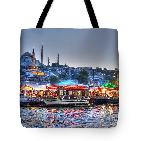 The Riverboats of Istanbul Tote Bag by Michael Garyet