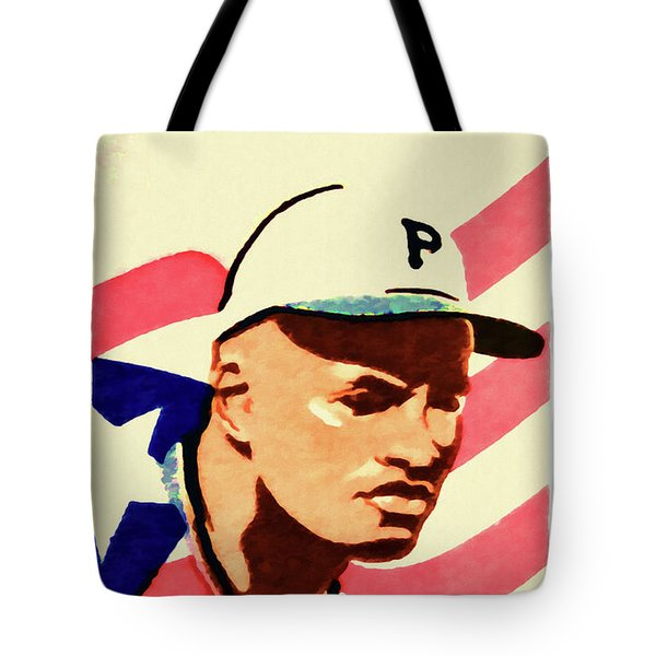 The Roberto Clemente  Tote Bag by Lanjee Chee