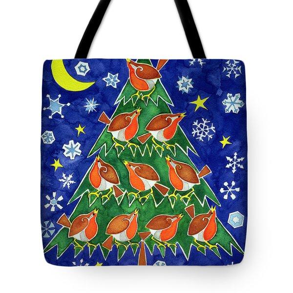 The Robins Chorus Tote Bag by Cathy Baxter