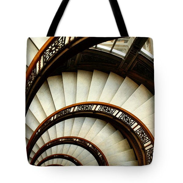 The Rookery Spiral Staircase Tote Bag by Ely Arsha
