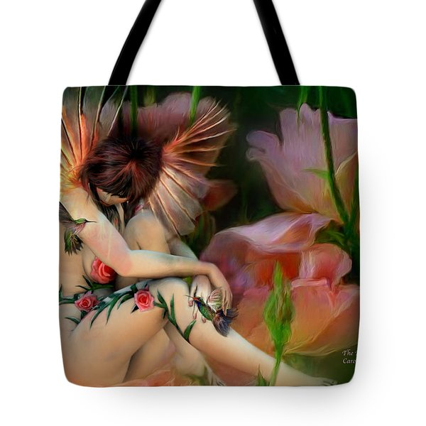 The Rose Fairy Tote Bag by Carol Cavalaris