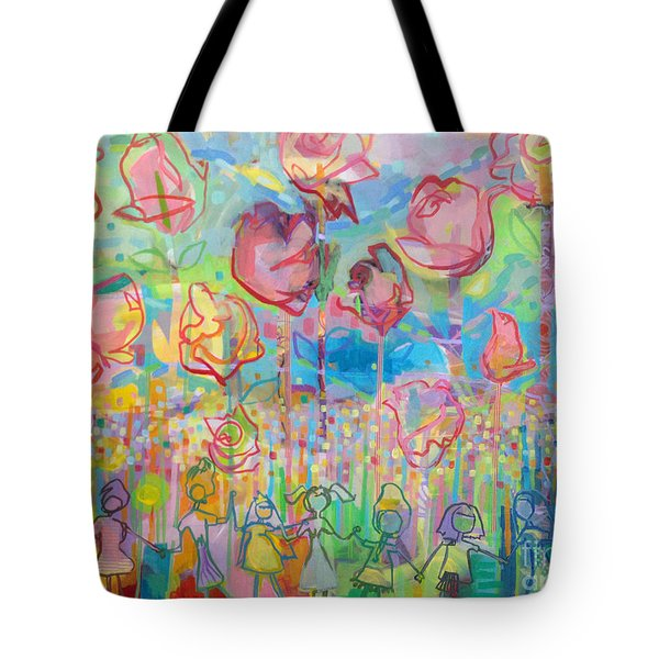 The Rose Garden, Love Wins Tote Bag by Kimberly Santini