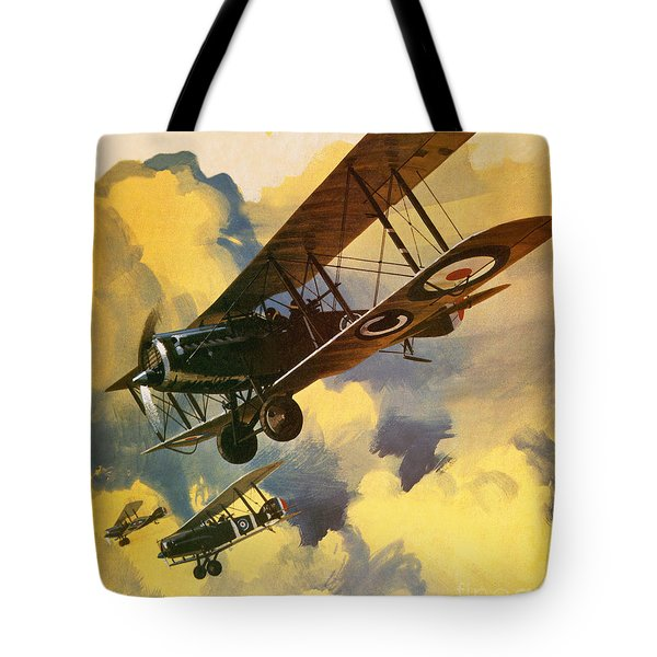 The Royal Flying Corps Tote Bag by Wilf Hardy