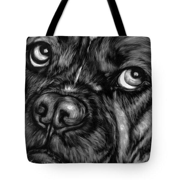 The Sad Boxer Tote Bag by Enzie Shahmiri