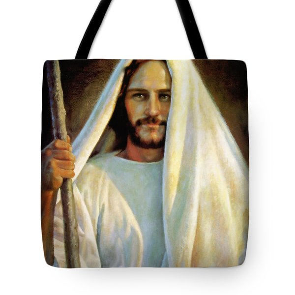 The Savior Tote Bag by Greg Olsen