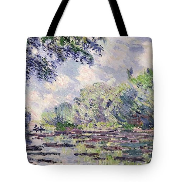The Seine At Giverny Tote Bag by Claude Monet