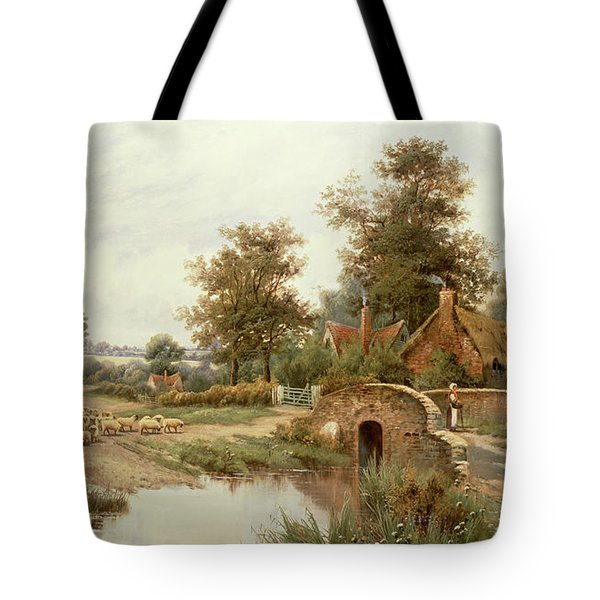 The Sheep Drover Tote Bag by Thomas Octavius Clark