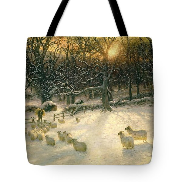 The Shortening Winters Day Is Near A Close Tote Bag by Joseph Farquharson