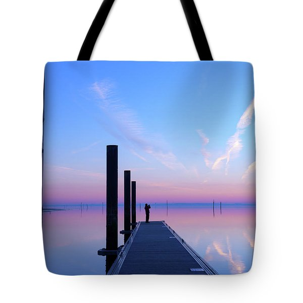 Tote Bag featuring the photograph The Silent Man by Thierry Bouriat