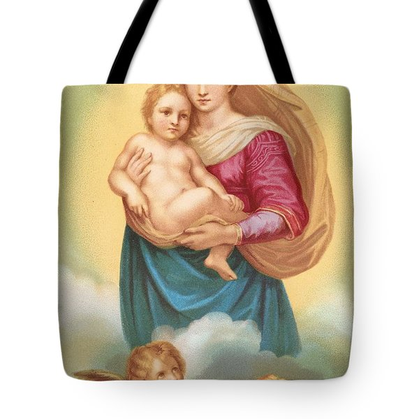 The Sistine Madonna Tote Bag by Raphael
