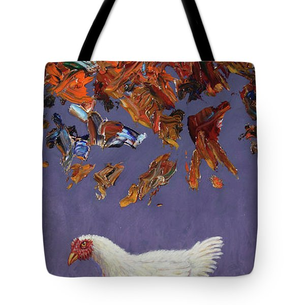 The Sky Is Falling Tote Bag by James W Johnson