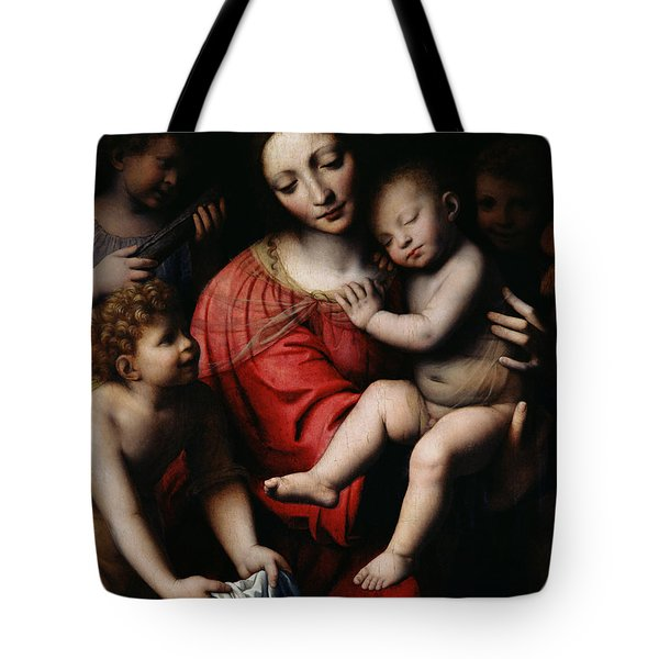 The Sleeping Christ Tote Bag by Bernardino Luini
