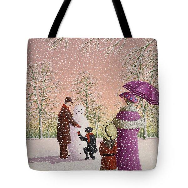The Snowman Tote Bag by Peter Szumowski