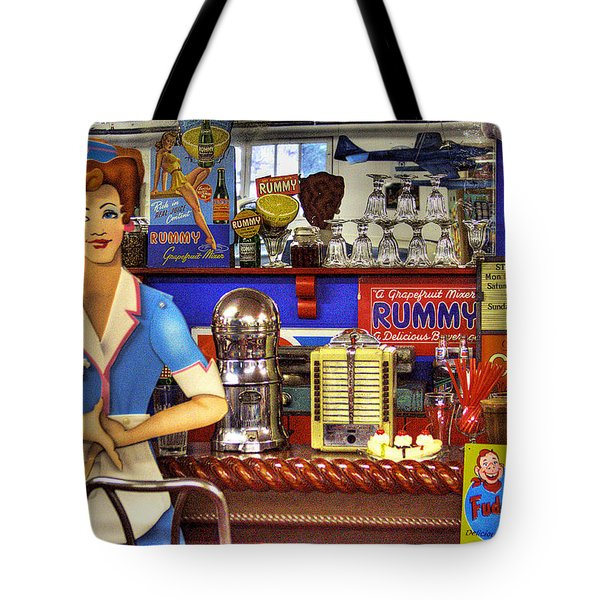 The Soda Fountain Tote Bag by David Patterson