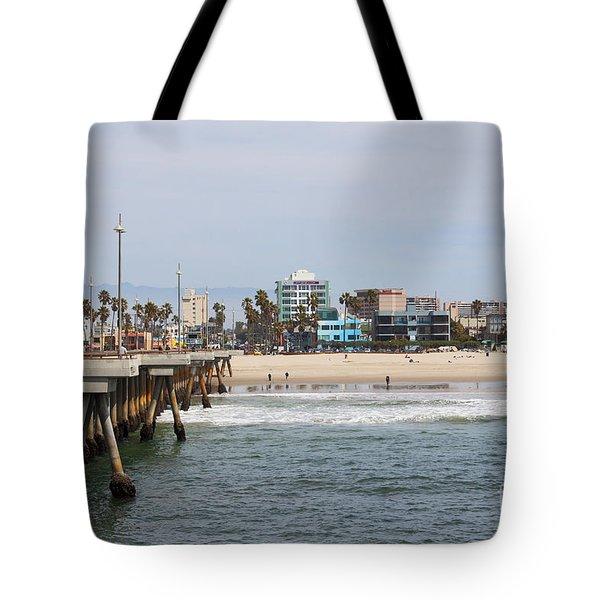 The South View Venice Beach Pier Tote Bag by Ana V Ramirez