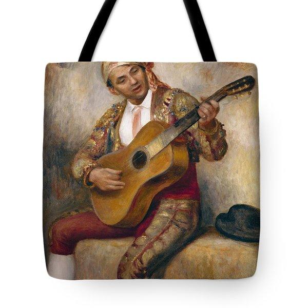 The Spanish Guitarist Tote Bag by Pierre Auguste Renoir