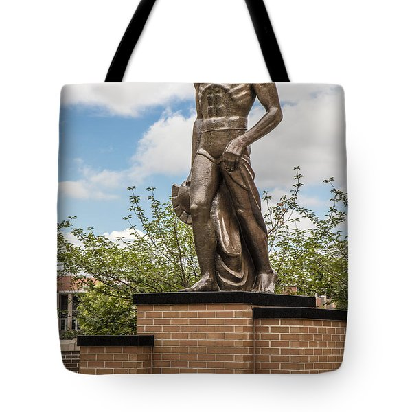 The Spartan Statue - Michigan State University Tote Bag by John McGraw