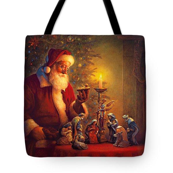 The Spirit of Christmas Tote Bag by Greg Olsen
