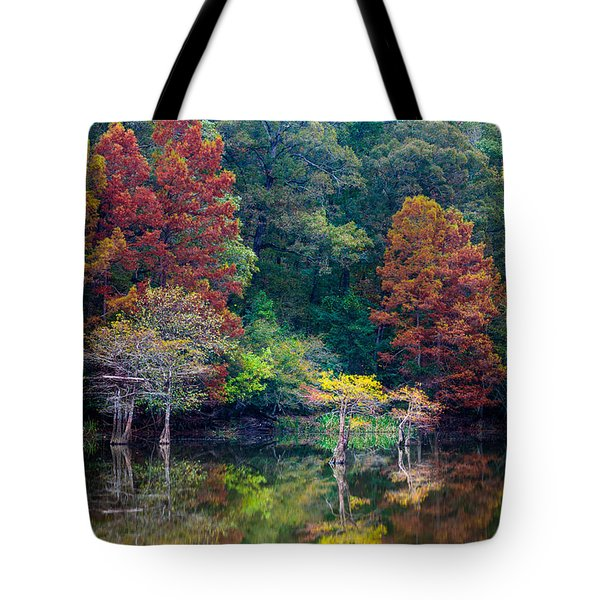 The Stillness Of The River Tote Bag by Inge Johnsson