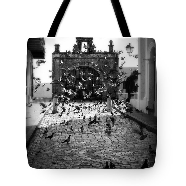 The Street Pigeons Tote Bag by Perry Webster