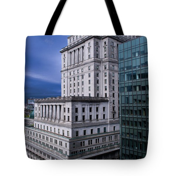 The Sunlife Building In Montreal Tote Bag by Lisa Knechtel