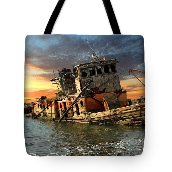 The Sunset Years Of The Mary D. Hume Tote Bag by James Eddy
