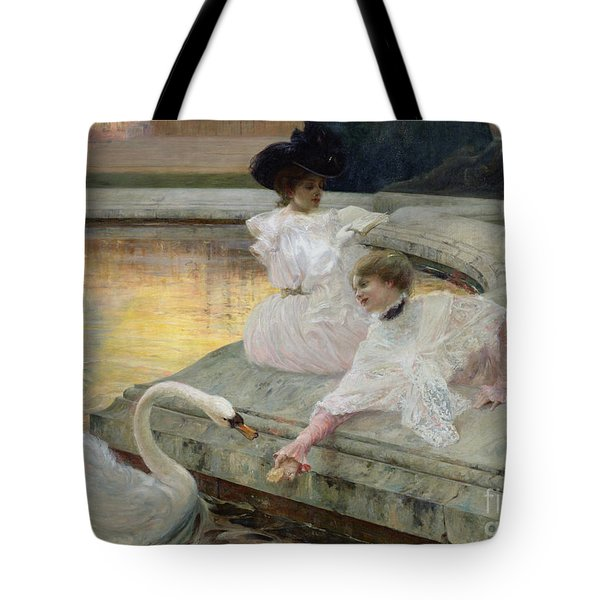 The Swans Tote Bag by Joseph Marius Avy