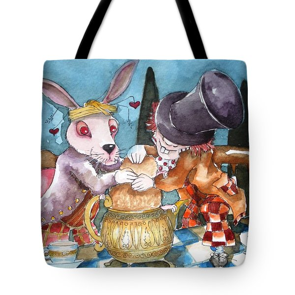 The Tea Party Tote Bag by Lucia Stewart