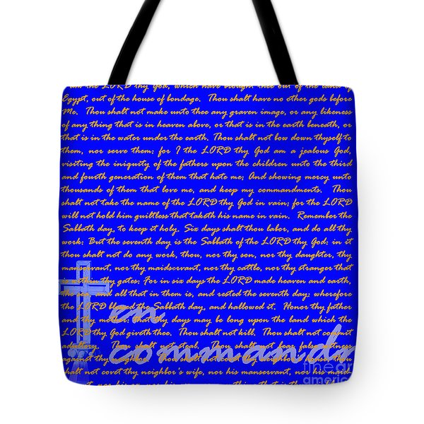 The Ten Commandments 20130213blue Tote Bag by Wingsdomain Art and Photography