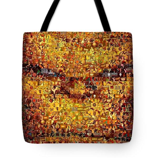 The Thing Mosaic Tote Bag by Paul Van Scott