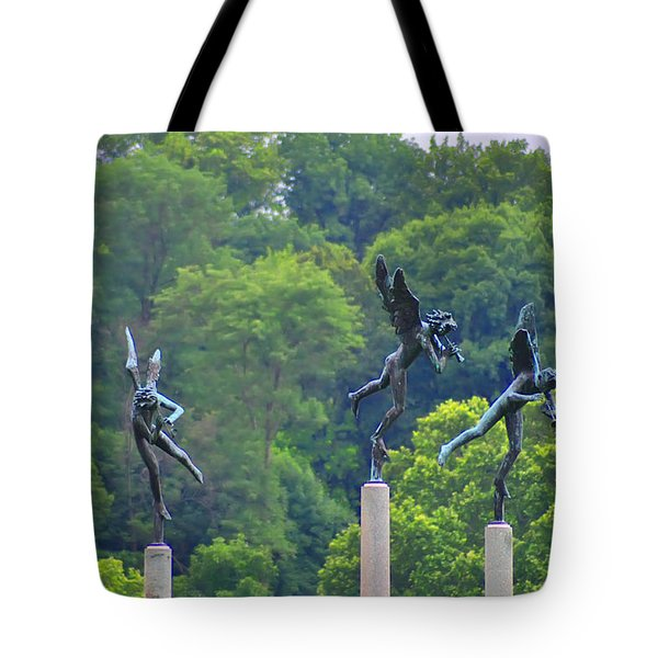 The Three Angels Tote Bag by Bill Cannon