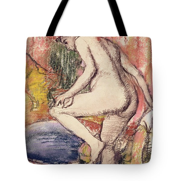 The Toilet Tote Bag by Edgar Degas