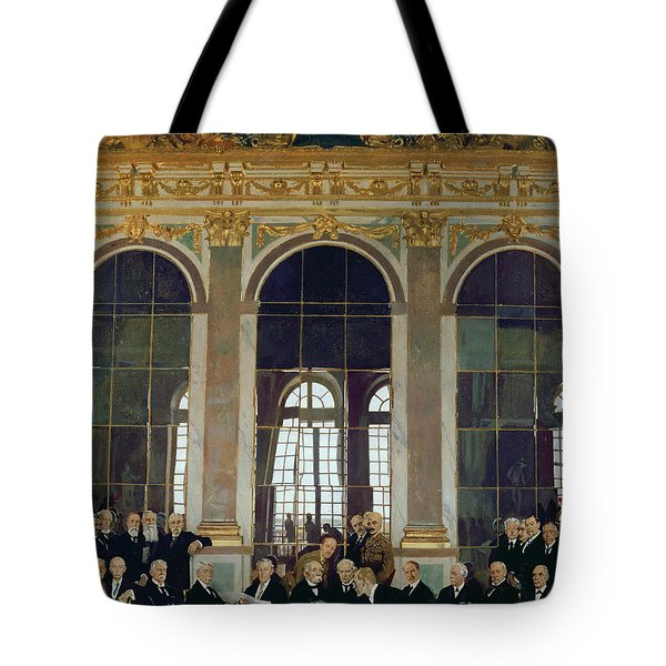 The Treaty Of Versailles Tote Bag by Sir William Orpen