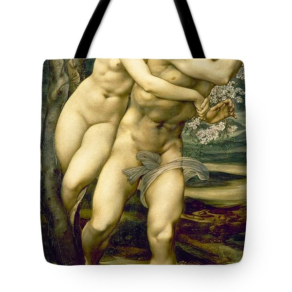 The Tree Of Forgiveness Tote Bag by Sir Edward Burne-Jones