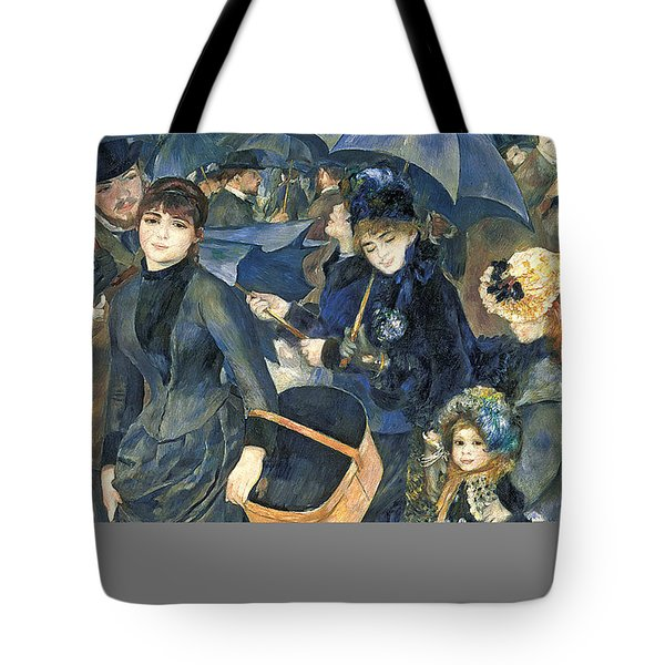 The Umbrellas Tote Bag by Pierre Auguste Renoir
