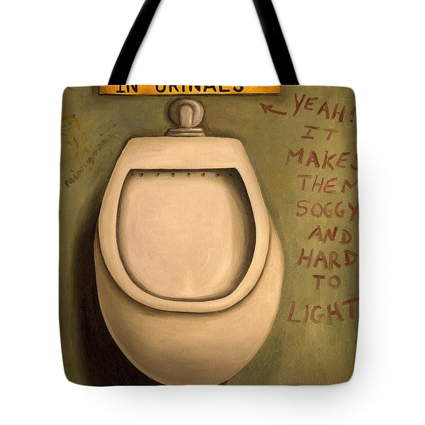 The Urinal Tote Bag by Leah Saulnier The Painting Maniac