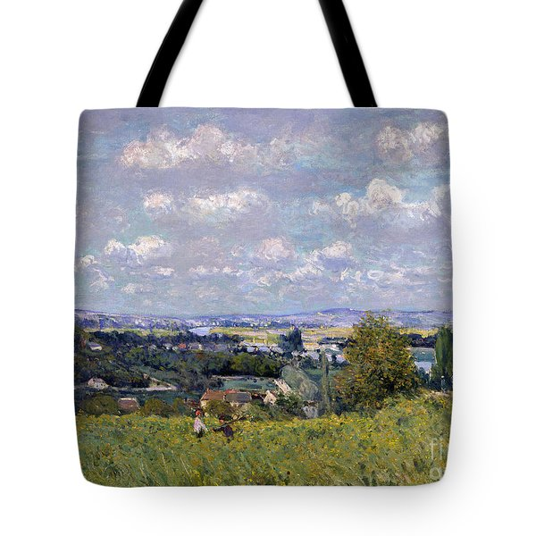 The Valley Of The Seine At Saint Cloud Tote Bag by Alfred Sisley
