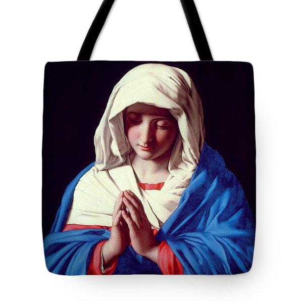 The Virgin In Prayer Tote Bag by Il Sassoferrato