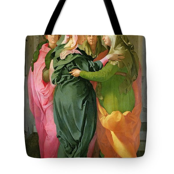 The Visitation Tote Bag by Jacopo Pontormo