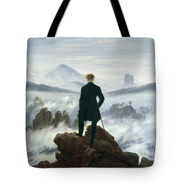 The Wanderer Above The Sea Of Fog Tote Bag by Caspar David Friedrich