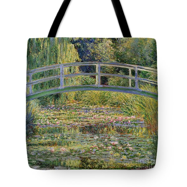 The Waterlily Pond With The Japanese Bridge Tote Bag by Claude Monet