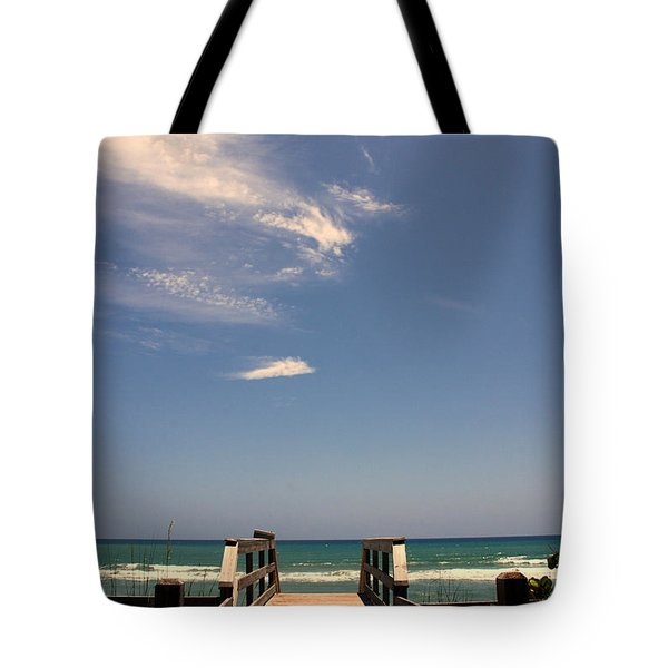 The Way Out To The Beach Tote Bag by Susanne Van Hulst