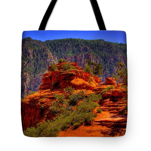The Wedding Rock in Sedona Tote Bag by David Patterson