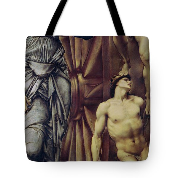 The Wheel Of Fortune Tote Bag by Sir Edward Burne Jones