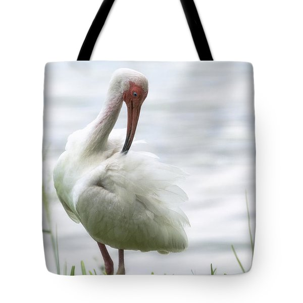 The White Ibis  Tote Bag by Saija  Lehtonen