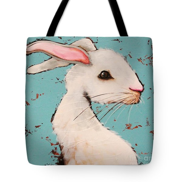 The White Rabbit Tote Bag by Lucia Stewart