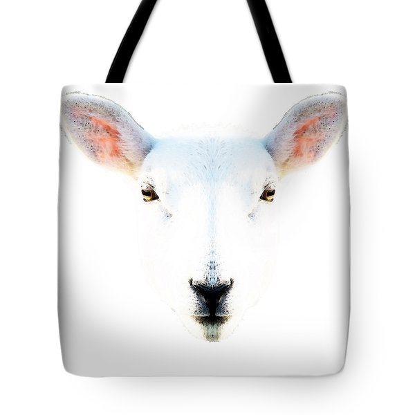 The White Sheep By Sharon Cummings Tote Bag by Sharon Cummings