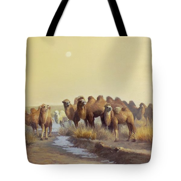 The Winter Of Desert Tote Bag by Chen Baoyi