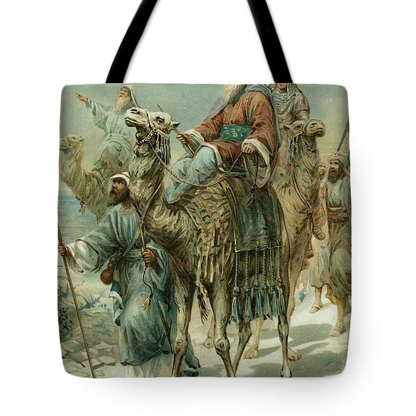 The Wise Men Seeking Jesus Tote Bag by Ambrose Dudley
